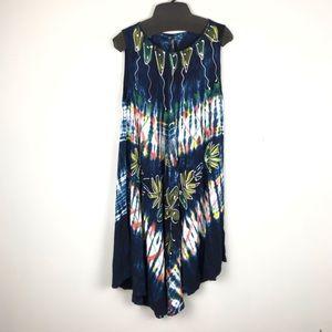 Beach Angels Tie Dye Hi/Low Resort Dress One Size